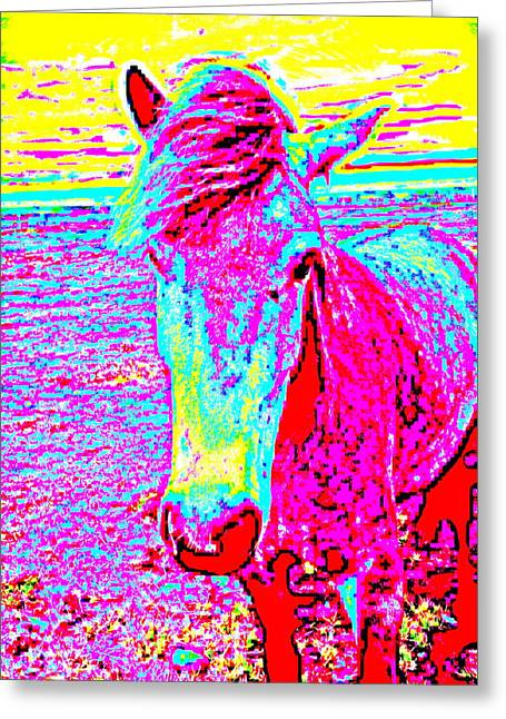A Horse Comes To Me In A Dream Tells Me To Stay With Her  Greeting Card