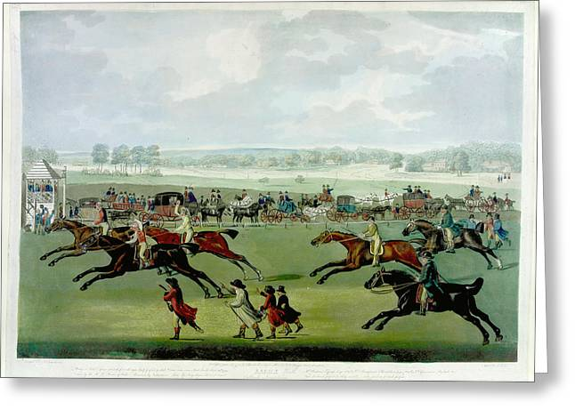 A Horse Race Greeting Card by British Library