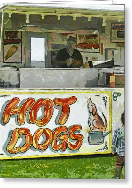 A Hot Dog Or Hot Chips? Greeting Card by Steve Taylor