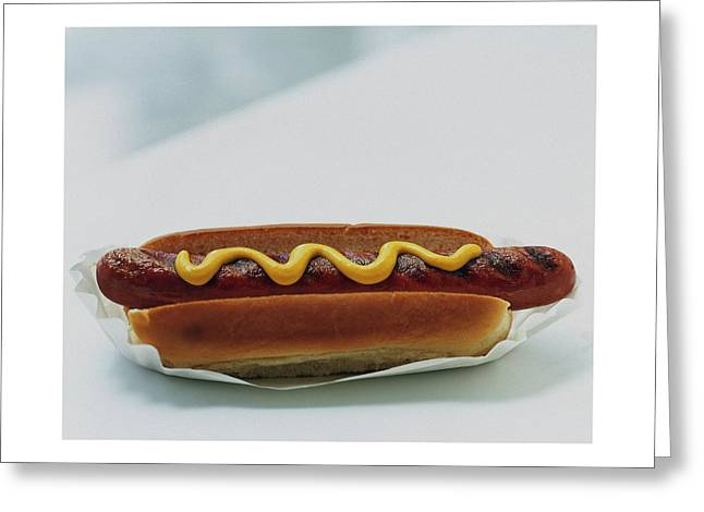 A Hot Dog With Mustard Greeting Card
