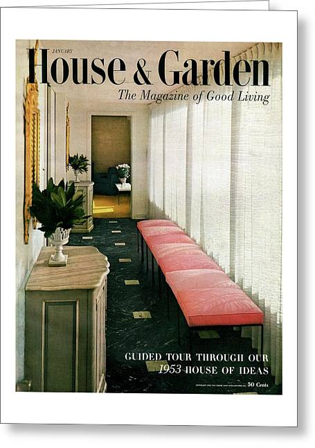 A House And Garden Cover Of A Hallway Greeting Card