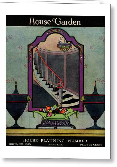 A House And Garden Cover Of A Staircase Greeting Card