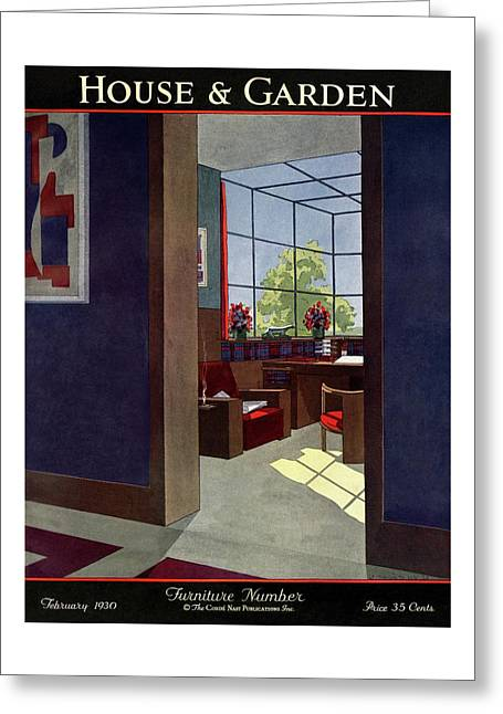 A House And Garden Cover Of An Interior Greeting Card