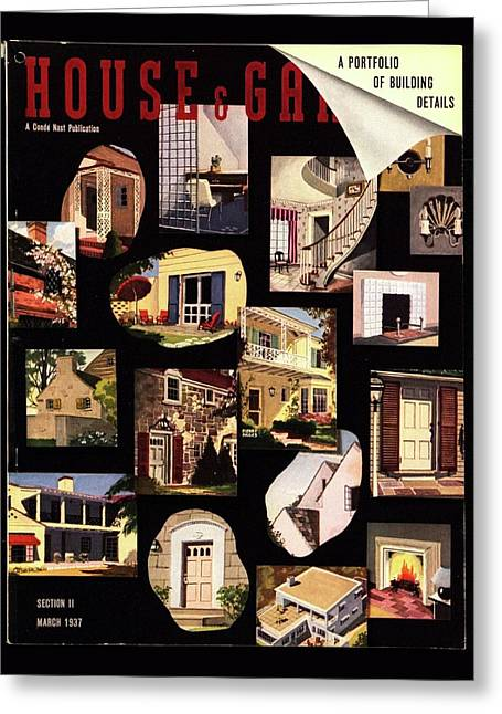 A House And Garden Cover Of House Details Greeting Card by Pierre Pages