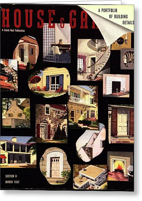 A House And Garden Cover Of House Details Greeting Card