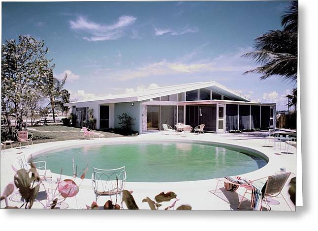 A House In Miami Greeting Card by Tom Leonard