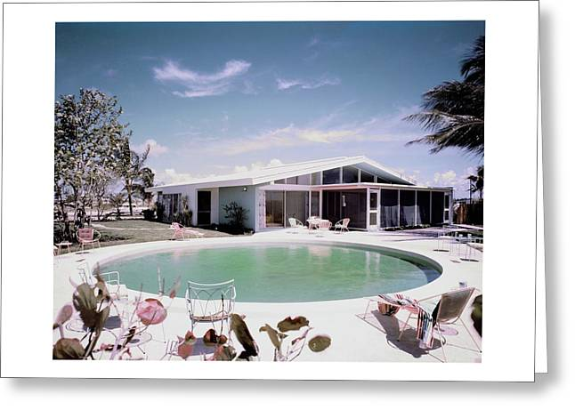 A House In Miami Greeting Card