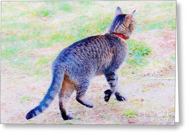 A Hunting We Will Go Greeting Card by Judy Via-Wolff