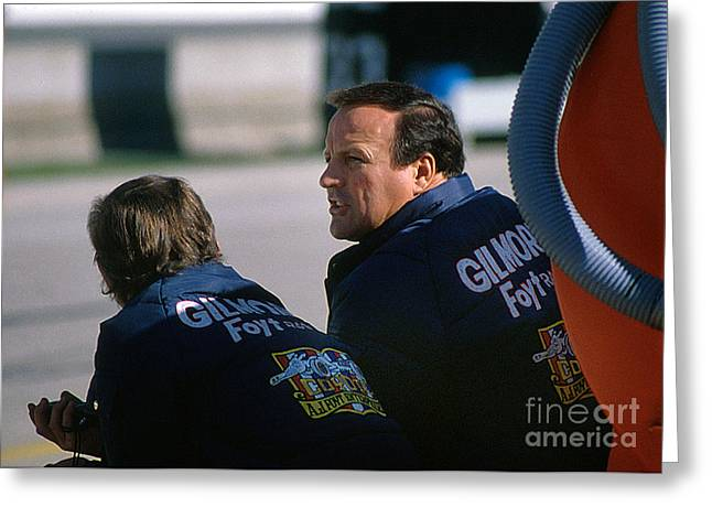 A. J. Foyt At Indy Greeting Card