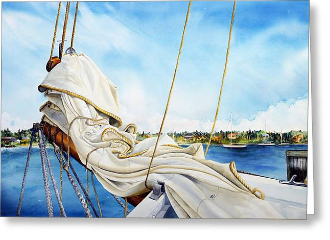 A. J. Meerwald Heading Out Greeting Card
