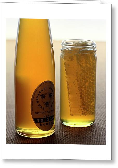 A Jar And Bottle Of Honey Greeting Card