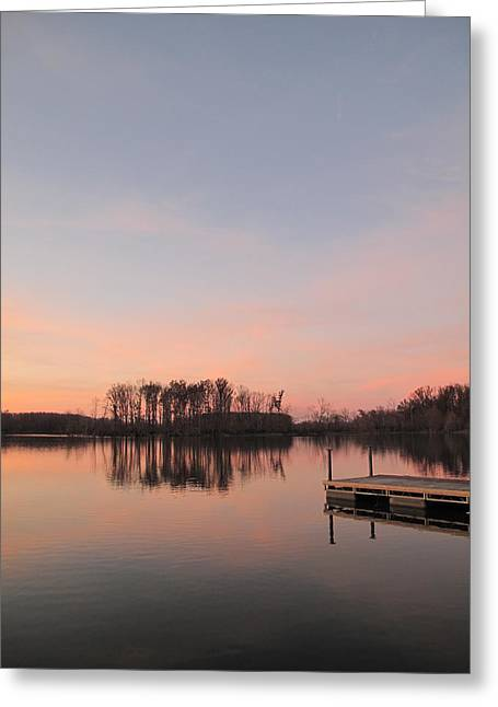 A Jetty Into Crab Orchard Lake Greeting Card