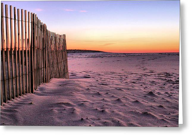 A Jones Beach Morning Greeting Card by JC Findley