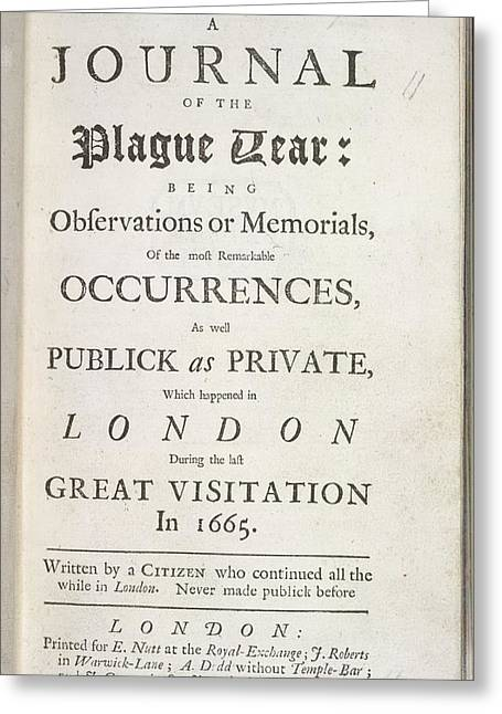 A Journal Of The Plague Year Greeting Card