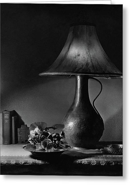 A Jug Lamp Greeting Card by Joseph B. Wurtz