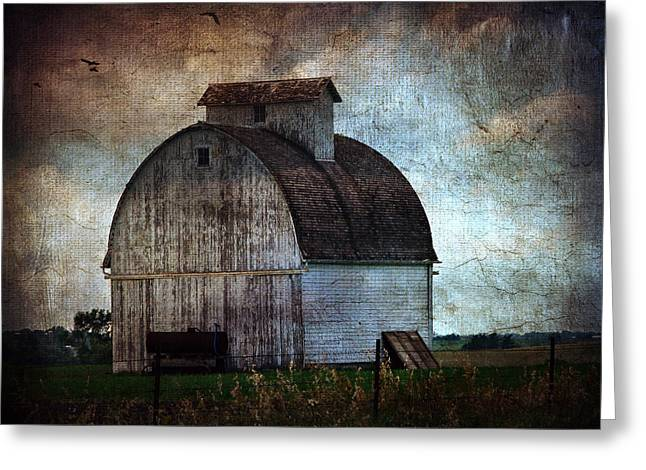 A Kalona Barn Greeting Card by Cassie Peters