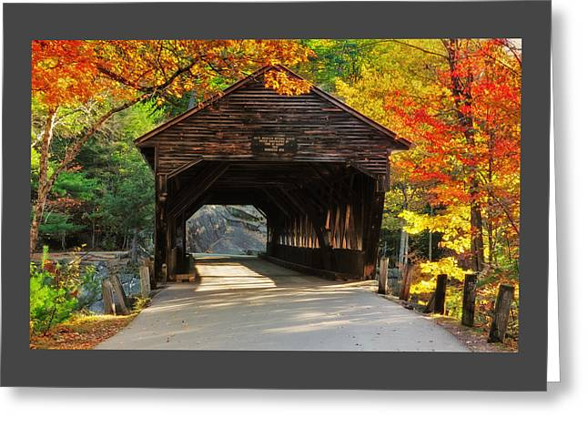 A Kancamagus Gem - Albany Covered Bridge Nh Greeting Card