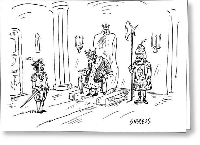 A King Gives Orders To His Soldier Greeting Card