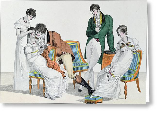 A Kissing Game Greeting Card by French School
