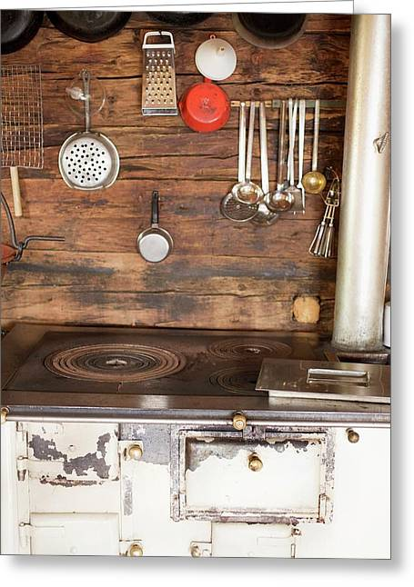 A Kitchen In An Alpine Chalet Greeting Card