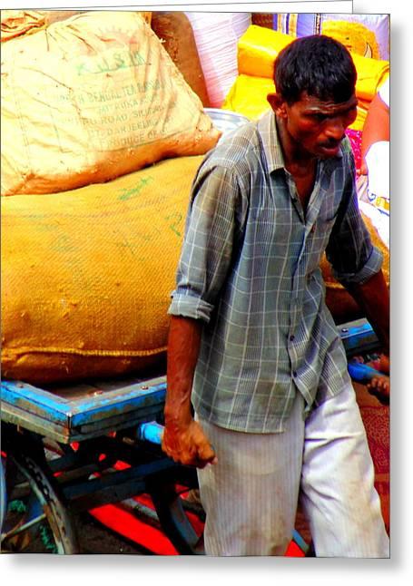 A Laborer Greeting Card by Mannoj Umale