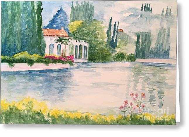 A Lake In Tuscany Greeting Card