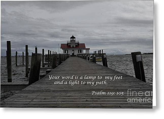 A Lamp To My Feet Greeting Card by Debra Johnson
