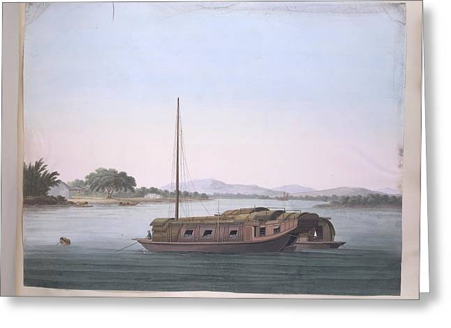 A Large Boat Greeting Card
