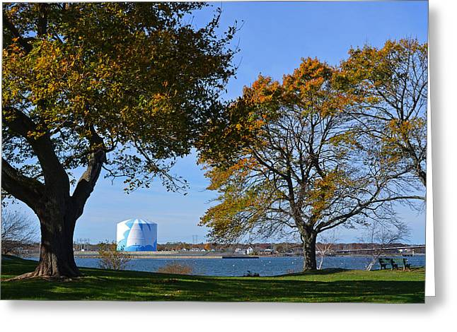 A Late Fall Afternoon On The Salem Willows Greeting Card by Toby McGuire