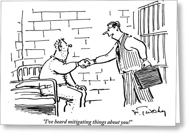 A Lawyer With A Briefcase Shakes The Hand Greeting Card