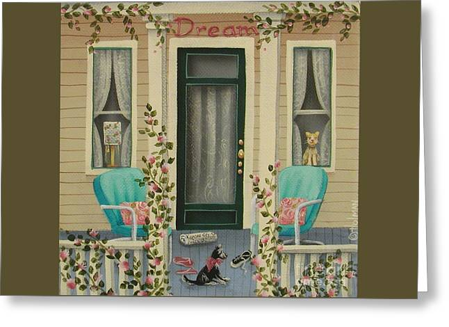 A Lazy Saturday Morning Greeting Card by Catherine Holman