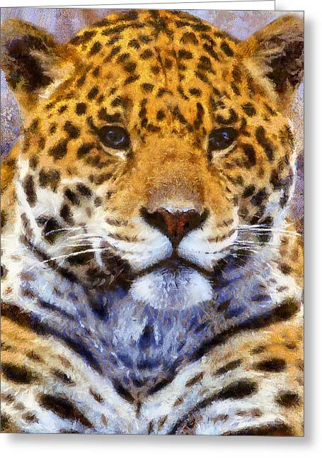 A Leopard Never Changes His Spots Greeting Card by Georgiana Romanovna
