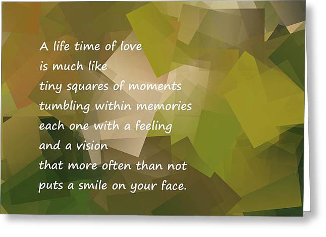 A Life Time Of Love Greeting Card by Jeff Swan