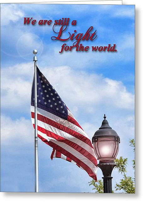 A Light For The World Greeting Card by Larry Bishop
