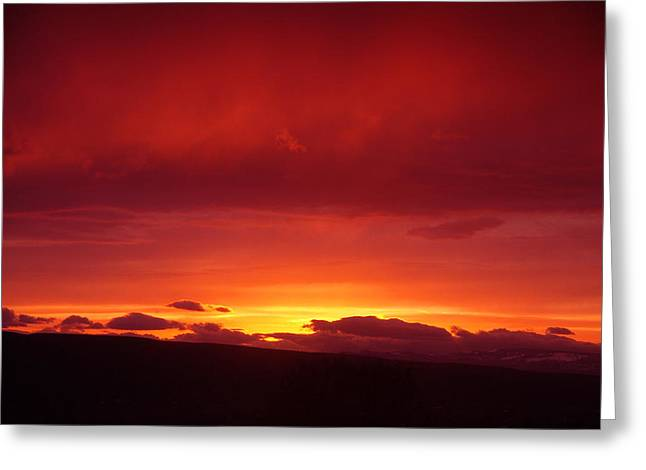A Light In The Clouds  Greeting Card by Jeff Swan