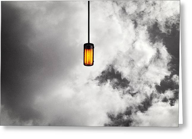A Light That Never Goes Out Greeting Card by Claudia Newman