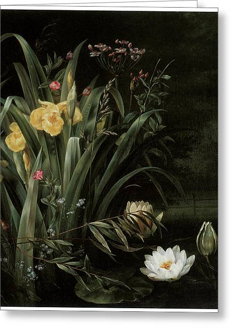 A Lily Pond Painting By Hermania Sigvardine Neergard