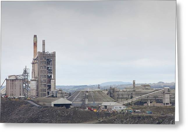 A Limestone Quarry In Clitheroe Greeting Card