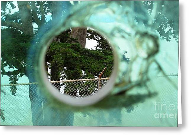 Greeting Card featuring the photograph A Limited Point Of View by Ethna Gillespie