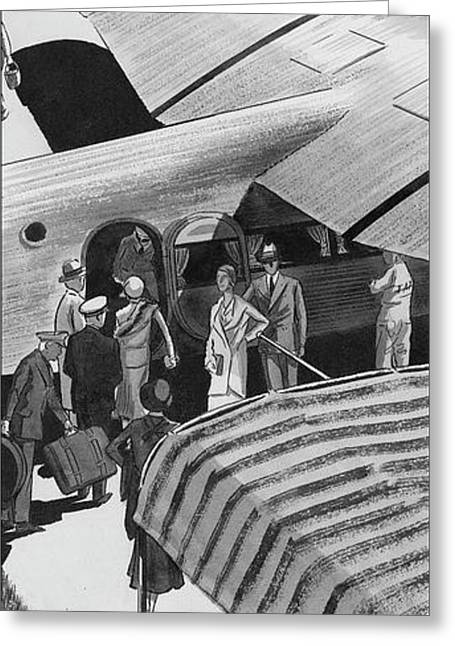 A Lindbergh Airplane In The Arizona Desert Greeting Card by Artist Unknown