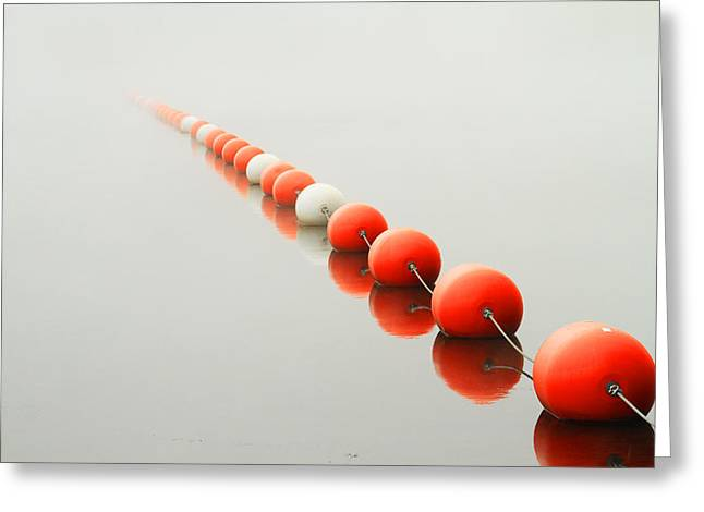 A Line To The Unknown Greeting Card by Karol Livote