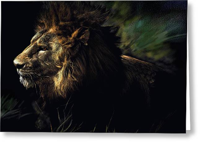 A Lion #1 Greeting Card