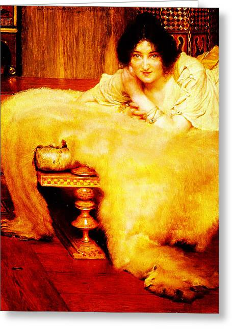 A Listener By Sir Lawrence Alma Tadema Greeting Card by MotionAge Designs