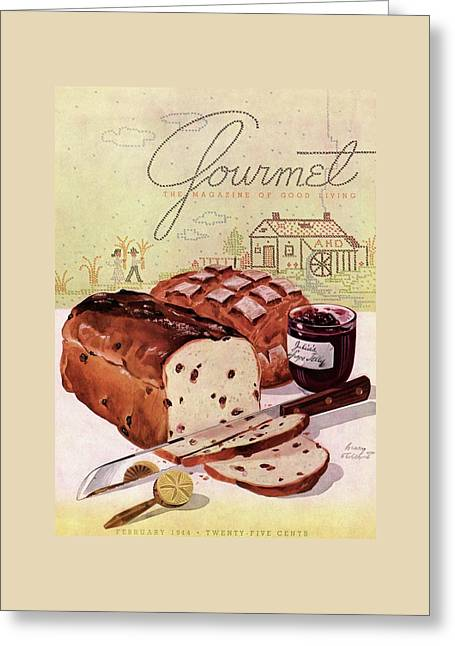 A Loaf Of Raisin Bread Greeting Card by Henry Stahlhut