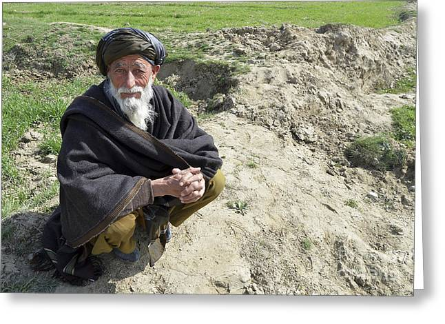 A Local Afghan Man Near A Village Greeting Card by Stocktrek Images