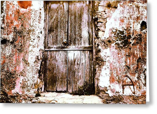 A Locked Door Greeting Card by H Hoffman