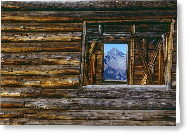 A Log Cabin In Telluride, Colorado Greeting Card by Karen Kasmauski