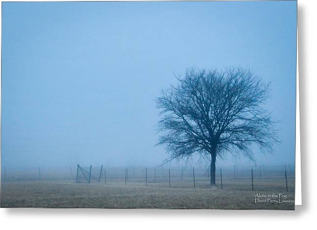 A Lone Tree In The Fog Greeting Card
