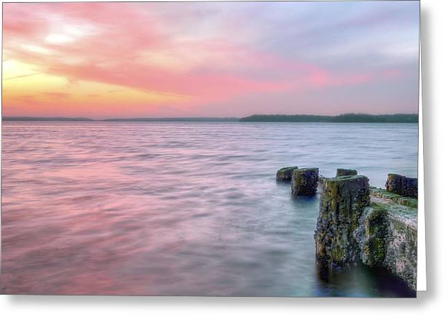 A Long Island Sunset Greeting Card by JC Findley