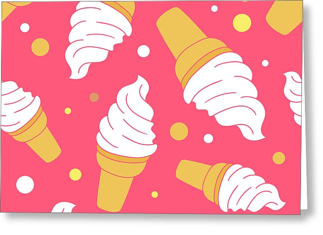 A Lot Of Ice Cream Hand Drawn Greeting Card